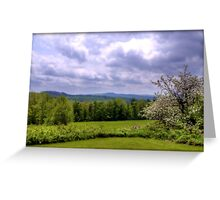 Springtime in the Hills of Washington, New Hampshire Greeting Card