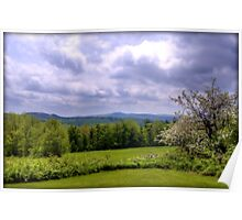 Springtime in the Hills of Washington, New Hampshire Poster