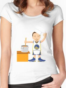 Chef Curry Widda Pot Boi! Women's Fitted Scoop T-Shirt
