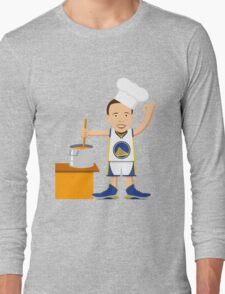 Chef Curry Widda Pot Boi! Long Sleeve T-Shirt