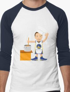Chef Curry Widda Pot Boi! Men's Baseball ¾ T-Shirt