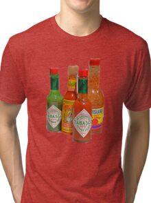 many hot sauces Tri-blend T-Shirt