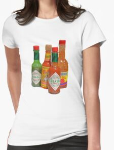 many hot sauces Womens Fitted T-Shirt