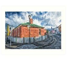 Red Brick House in Hobart Art Print