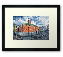 Red Brick House in Hobart Framed Print