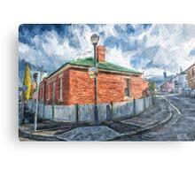Red Brick House in Hobart Metal Print