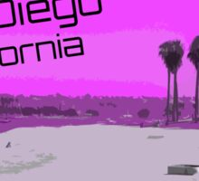 Retro San Diego California Sticker