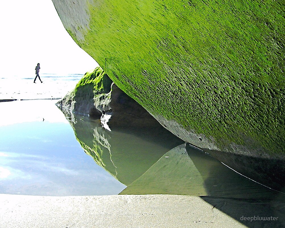 Low Tide #1 - Moss Green by deepbluwater