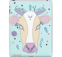 Cosmic Vegan Cow. iPad Case/Skin