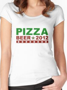 Pizza Beer 2012 Women's Fitted Scoop T-Shirt