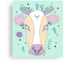 Cosmic Vegan Cow. Canvas Print