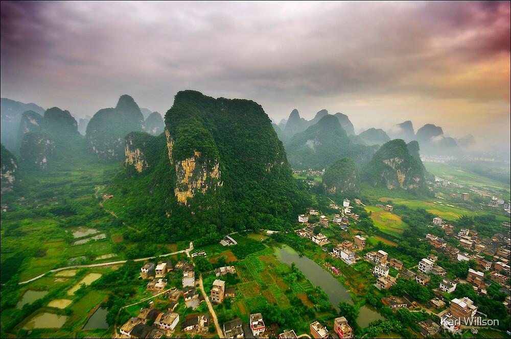 Descending Over Yangshuo by Karl Willson