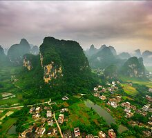 Descending Over Yangshuo by Karl Willson