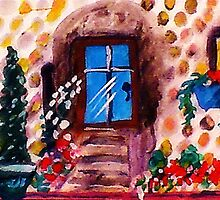 Little stoney cottage, watercolor by Anna  Lewis