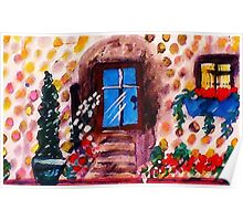 Little stoney cottage, watercolor Poster