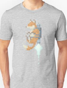 Fox Jetpack Pixel Art Unisex T-Shirt