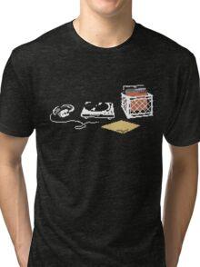 Vinyl Lover Pixel Art Tri-blend T-Shirt