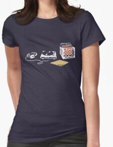 Vinyl Lover Pixel Art Womens Fitted T-Shirt
