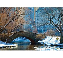 Central Park, NYC- Gapstow Bridge Photographic Print