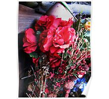 still life (plastic flowers from cemeteries) Poster