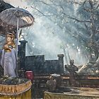 Temple Bathed in Sunlight through Smoke by JohnKarmouche