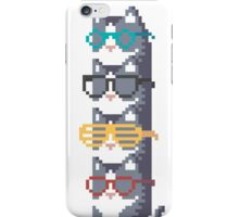 Cats In Glasses Pile Pixel Art iPhone Case/Skin