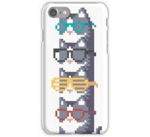 Cats In Glasses Pile Pixel Art iPhone Case/Skin