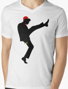 The [11th] Doctor of Silly Walks Mens V-Neck T-Shirt