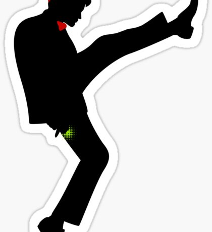 The [11th] Doctor of Silly Walks Sticker