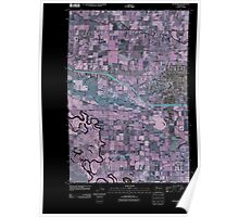USGS Topo Map Washington State WA Sunnyside 20110502 TM Inverted Poster