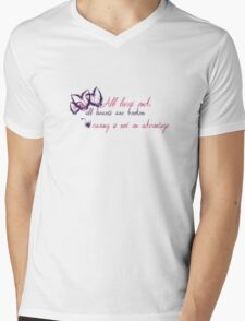 Caring is Not an Advantage Mens V-Neck T-Shirt