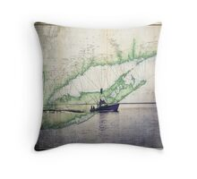 Sport Fishing Boat Throw Pillow