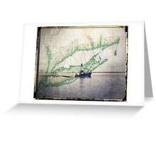 Sport Fishing Boat Greeting Card