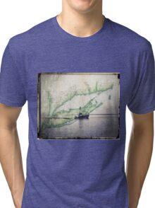Sport Fishing Boat Tri-blend T-Shirt