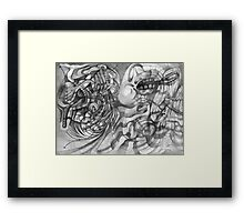 Extended Limb of an Octopus Painting a Picture. Framed Print