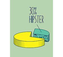30% Hipster Photographic Print