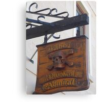 the shingle hanging outside the Drunken Admiral Canvas Print