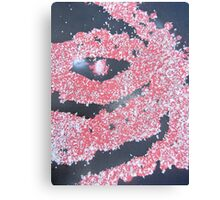 black,white and red eyes Canvas Print