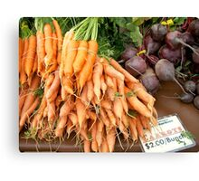 Root Vegetables Canvas Print