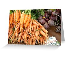 Root Vegetables Greeting Card