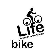 Bike v Life - White by Ron Marton