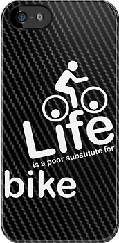 Bike v Life - Carbon Fibre Finish by Ron Marton