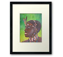 samburu warrior Framed Print