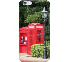 British Red Telephone Box And Pillar Box iPhone Case/Skin
