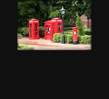 British Red Telephone Box And Pillar Box Unisex T-Shirt