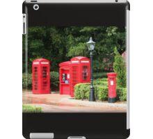 British Red Telephone Box And Pillar Box iPad Case/Skin