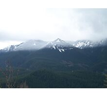 Dusting of snow on the mountains Photographic Print