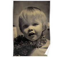If David Bowie had a glam toddler :) Poster