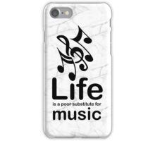 Music v Life - Marble iPhone Case/Skin