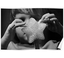 Magic star wand with little hands  Poster
